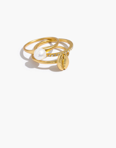 Cowrie Shell Ring Set by Madewell