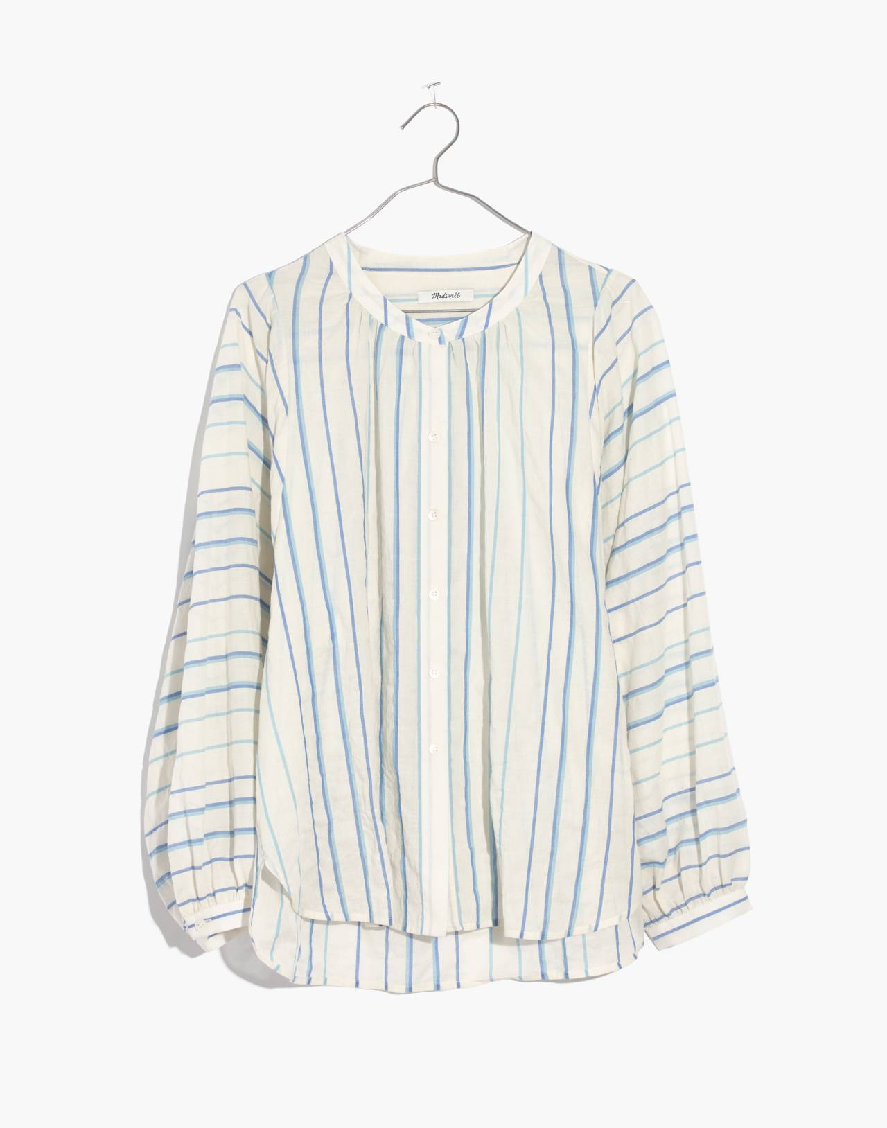 Peasant Top in Stripe in pale parchment jessie image 4
