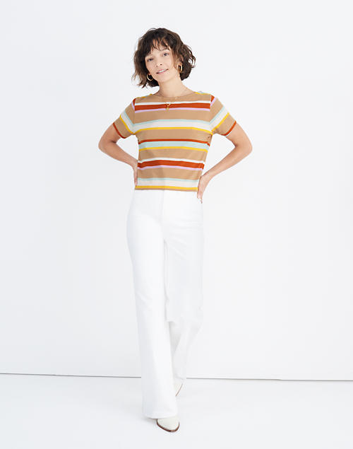 Setlist Boxy Tee In Wilmore Stripe by Madewell