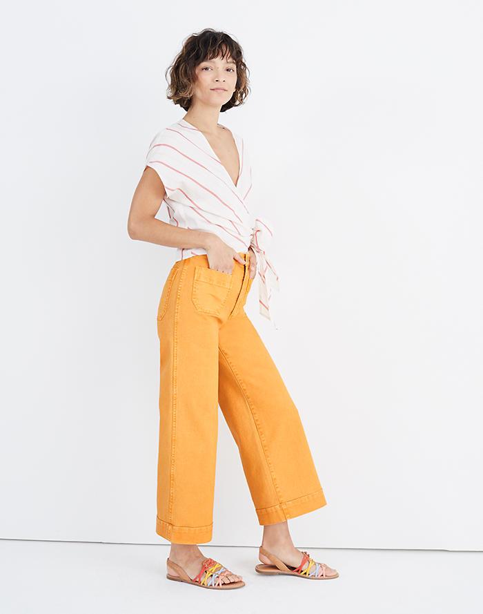 8634881d564 Petite Emmett Wide-Leg Crop Pants  Patch Pocket Edition