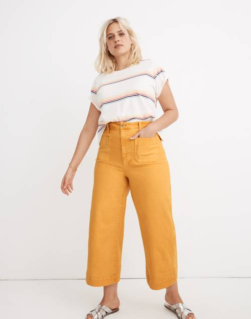 Tall Emmett Wide Leg Crop Pants: Patch Pocket Edition by Madewell