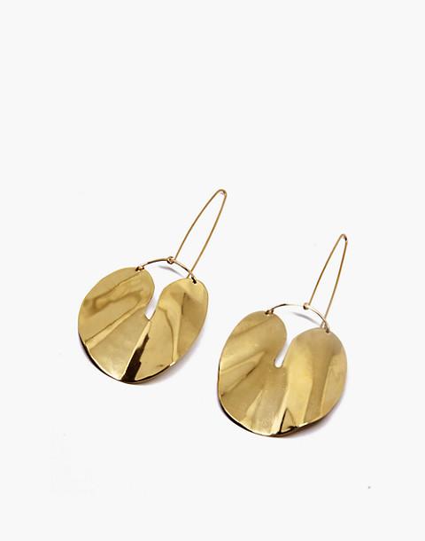SLANTT® Forme Earrings in brass image 1