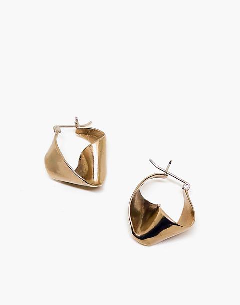 SLANTT® Petite Joan Hoop Earrings in brass image 1