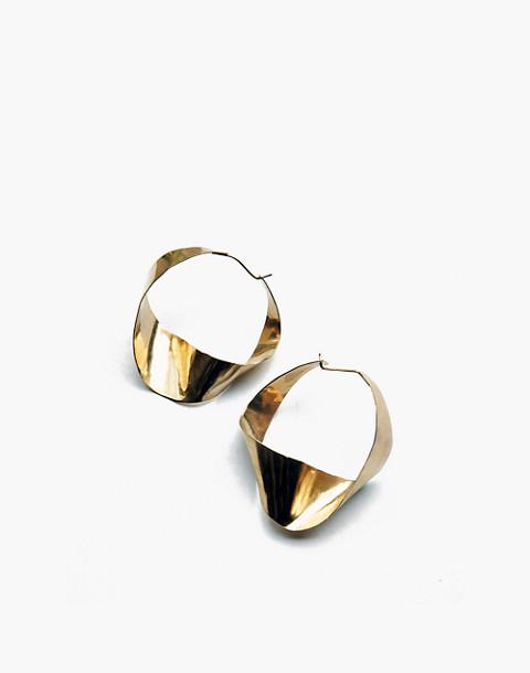 SLANTT® Joan Hoop Earrings in brass image 1