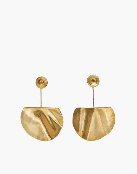 SLANTT® Freya Earrings in brass image 1