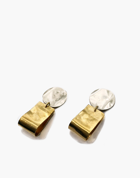 SLANTT® Petite Claudia Earrings in brass image 1
