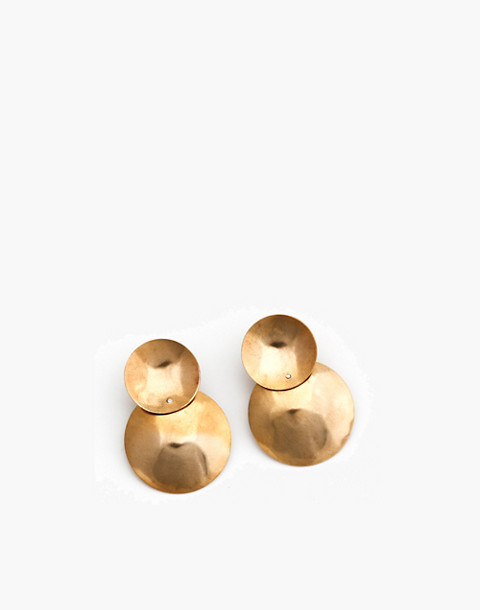 SLANTT® Petite Flora Earrings in brass image 1