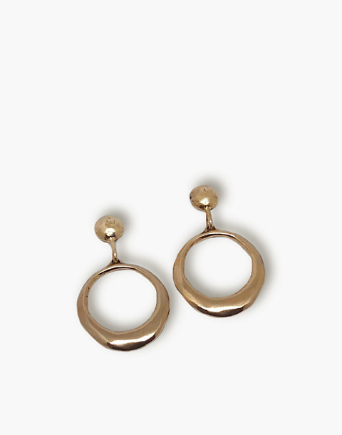 SLANTT® Regina Earrings in brass image 1