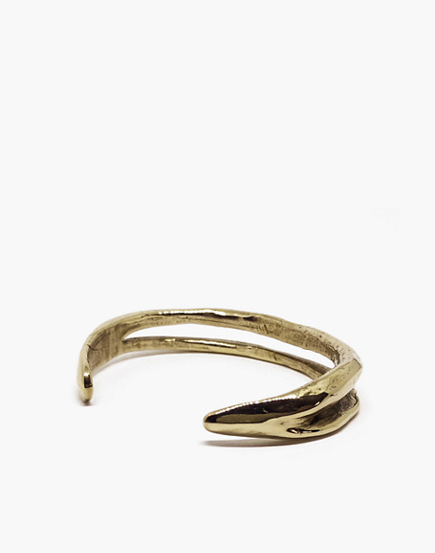SLANTT® Frida Double Cuff Bracelet in brass image 2