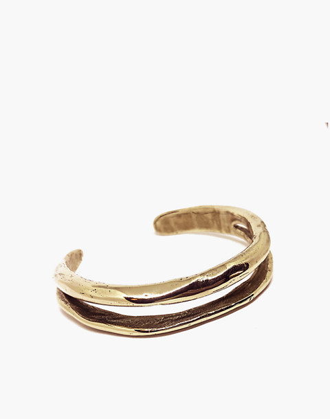 SLANTT® Frida Double Cuff Bracelet in brass image 1