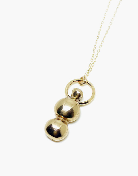 SLANTT® Vase Pendant Necklace in brass image 1