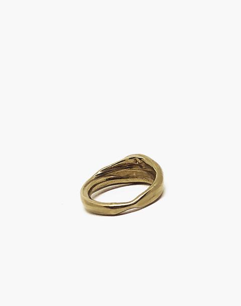 SLANTT® Greta Ring in brass image 3