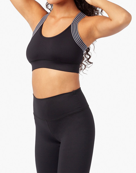 LIVELY™ Active Scoop-Neck Sports Bra in black image 2