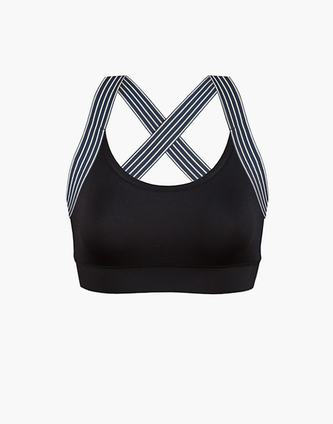 LIVELY™ Active Scoop-Neck Sports Bra in black image 3
