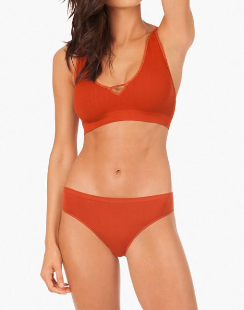 LIVELY™ Seamless Deep-V Bralette in orange image 1