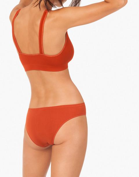 LIVELY™ Seamless Deep-V Bralette in orange image 2