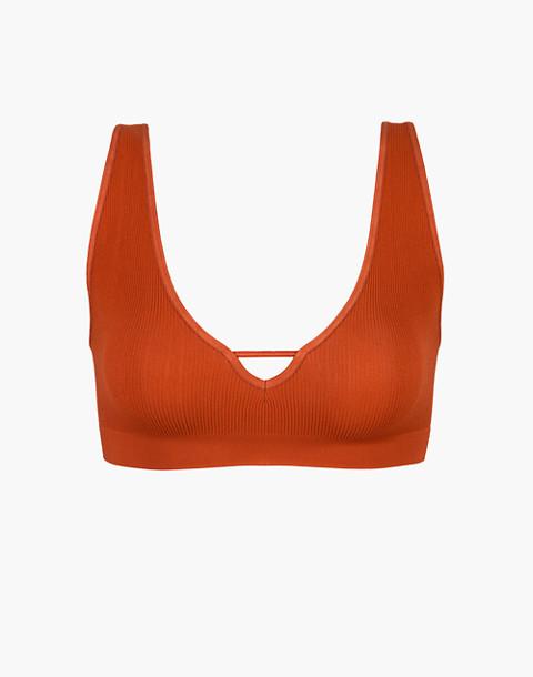 LIVELY™ Seamless Deep-V Bralette in orange image 3