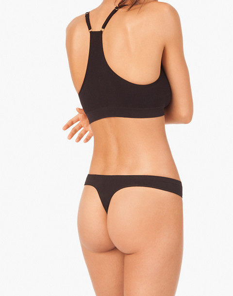 LIVELY™ Seamless Thong in black image 2