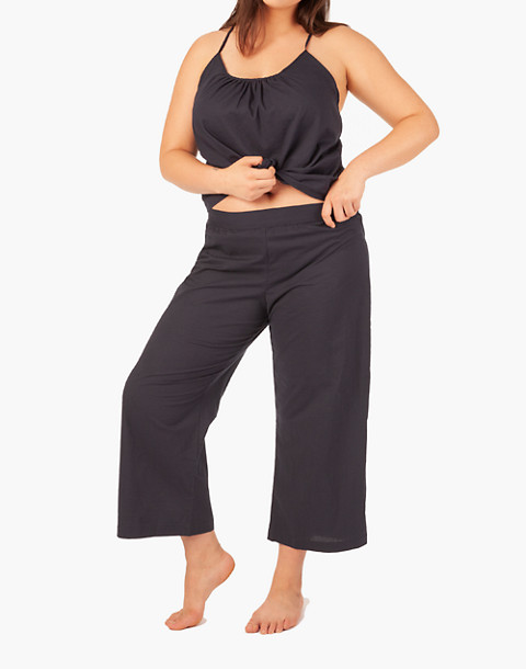 LIVELY™ Wide-Leg Lounge Pants in navy image 1