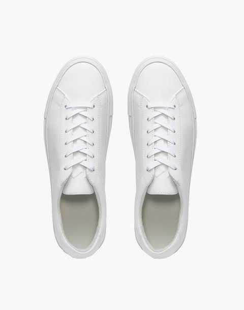 Unisex Koio Capri Low-Top Sneakers in Triple White Leather in white image 2