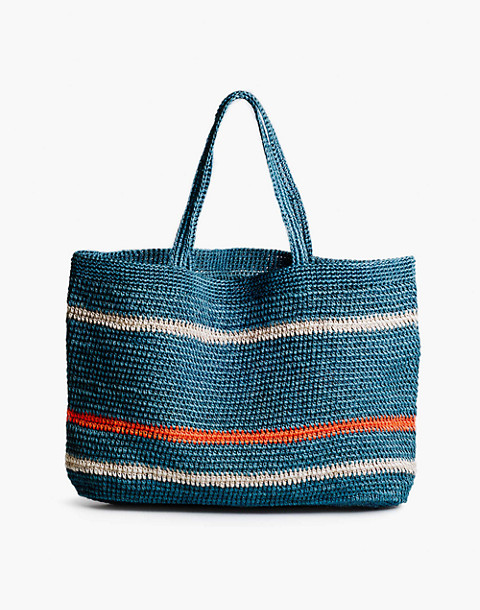 SOMEWARE™ Riviera Crocheted Tote Bag in blue image 2