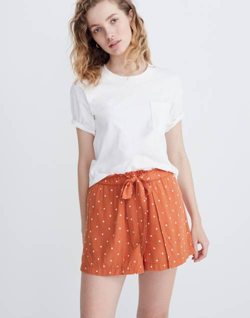 Drapey Pull On Shorts In Polka Dot by Madewell