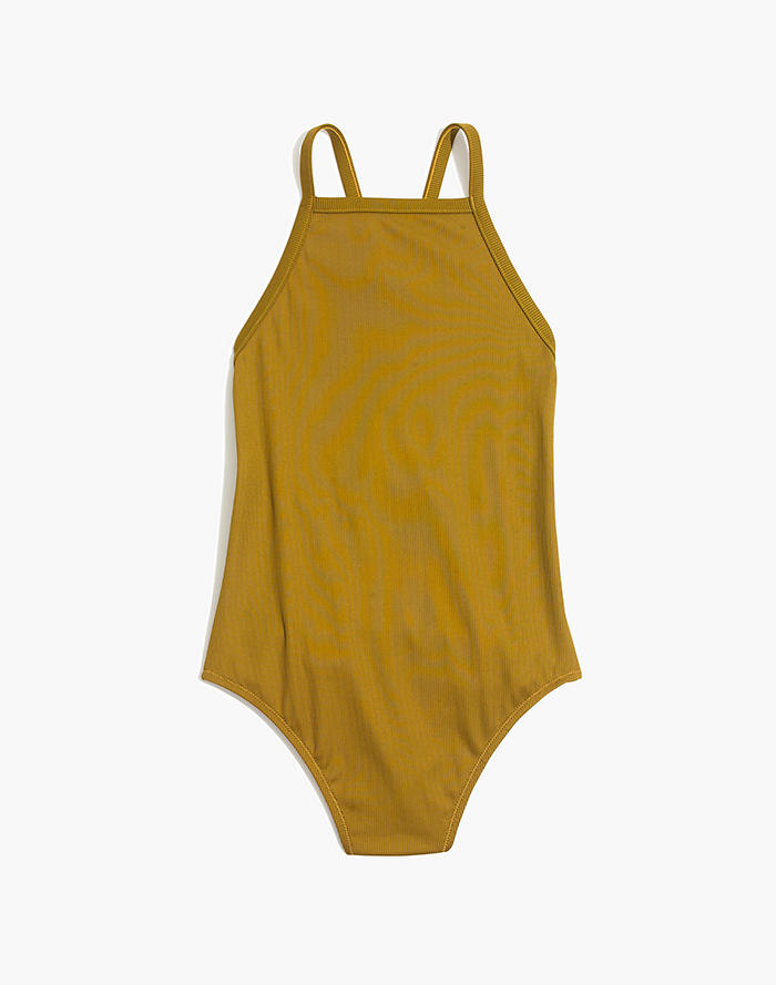 b1437192f95 Madewell Second Wave Ribbed Racerback One-Piece Swimsuit