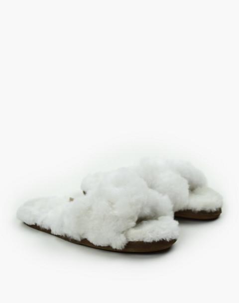 ARIANA BOHLING® Crisscross Alpaca Slippers in white image 2