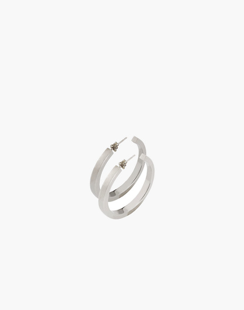 Charlotte Cauwe Studio Sterling Silver Everyday Hoop Earrings in silver image 1
