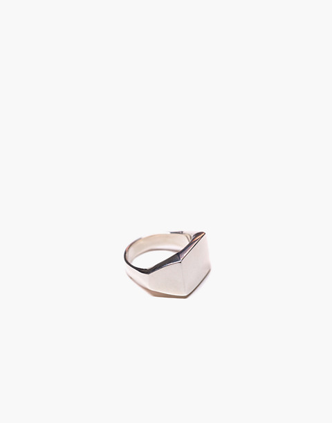 Charlotte Cauwe Studio Sterling Silver Delicate Signet Ring in silver image 1