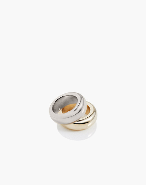 Charlotte Cauwe Studio Donut Ring Set in gold image 1