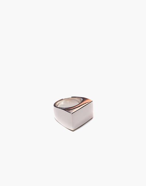 Charlotte Cauwe Studio Sterling Silver Large Modern Signet Ring in silver image 1