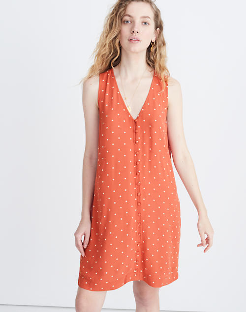 Heather Button Front Dress In Polka Dot by Madewell