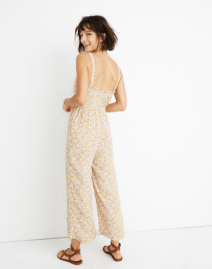 b60d997ca57 New. Pintuck Cami Jumpsuit in Blossoming Vines
