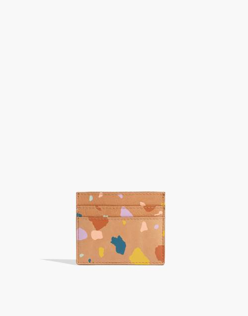 The Leather Card Case In Terrazzo by Madewell