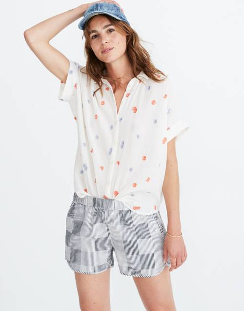 Daisy Embroidered Central Shirt by Madewell