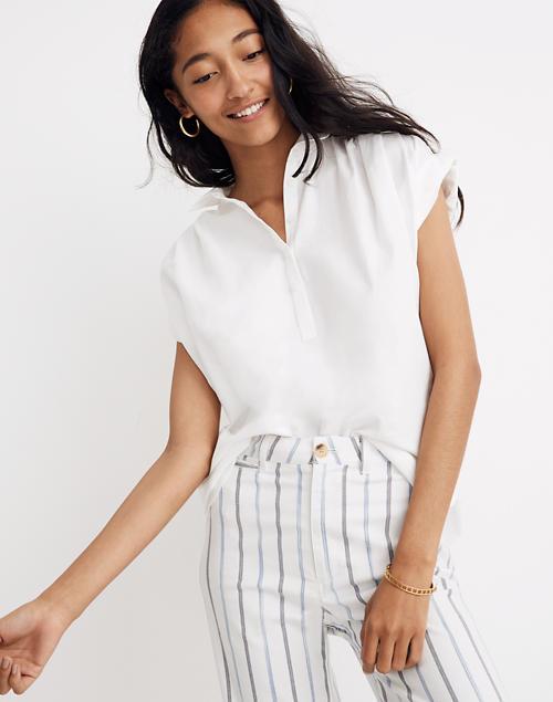 Central Popover Shirt in Eyelet White in eyelet white image 1