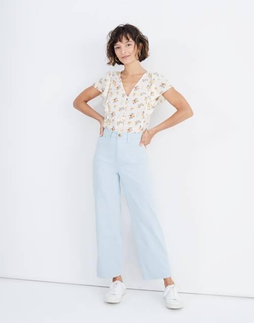 Slim Emmett Wide Leg Crop Pants In Speckle by Madewell