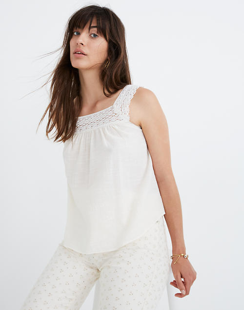 Crochet Tie Back Tank Top by Madewell
