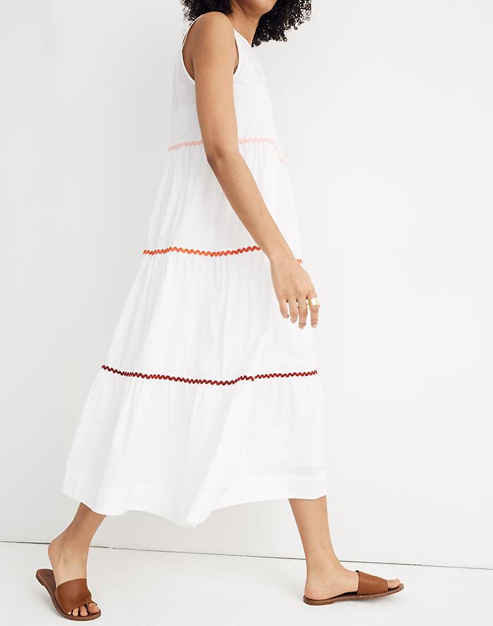 56639208477 New. Rickrack Cattail Tiered Dress