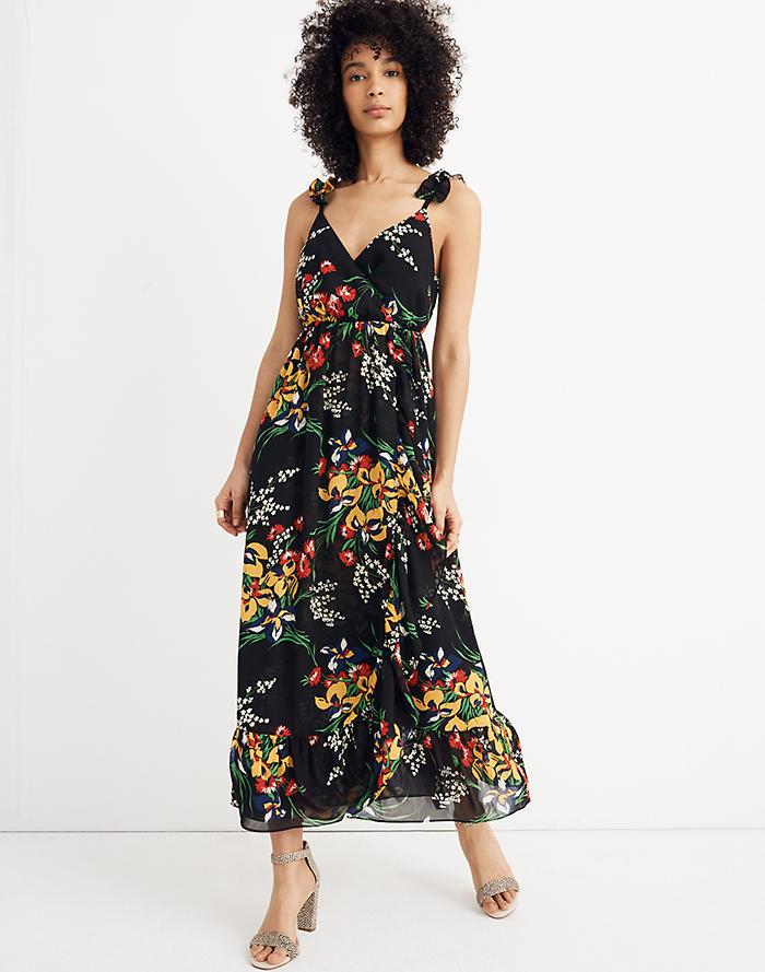 ec7a0706787 Ruffle-Strap Wrap Dress in Orchid Bouquet
