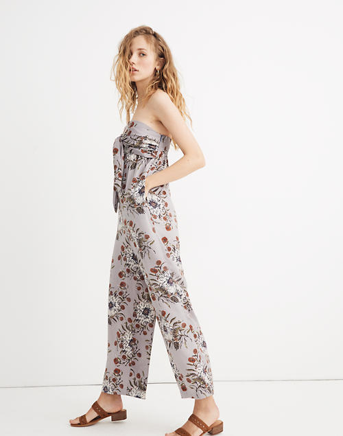 strapless-tie-front-jumpsuit-in-painted-blooms by madewell