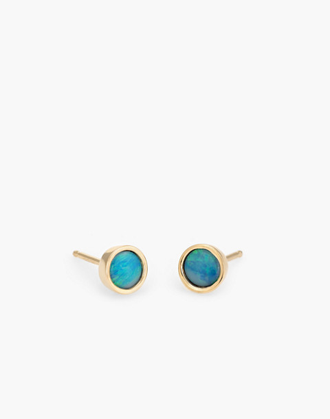 Dream Collective™ 14k Gold Big Dot Blue Opal Stud Earrings in gold image 1