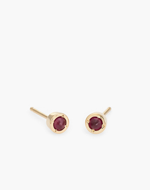 Dream Collective™ 14k Gold Tiny Dot Ruby Stud Earrings in gold image 1