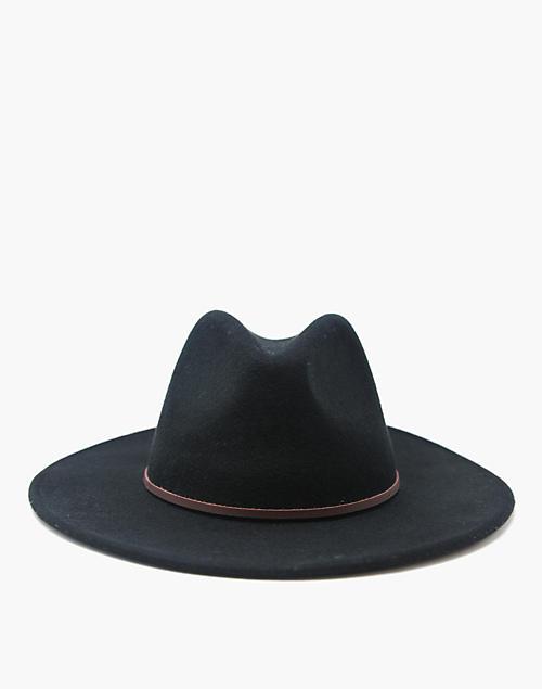 14463f69a6022 WYETH trade  Corgan Fedora Hat in black ...