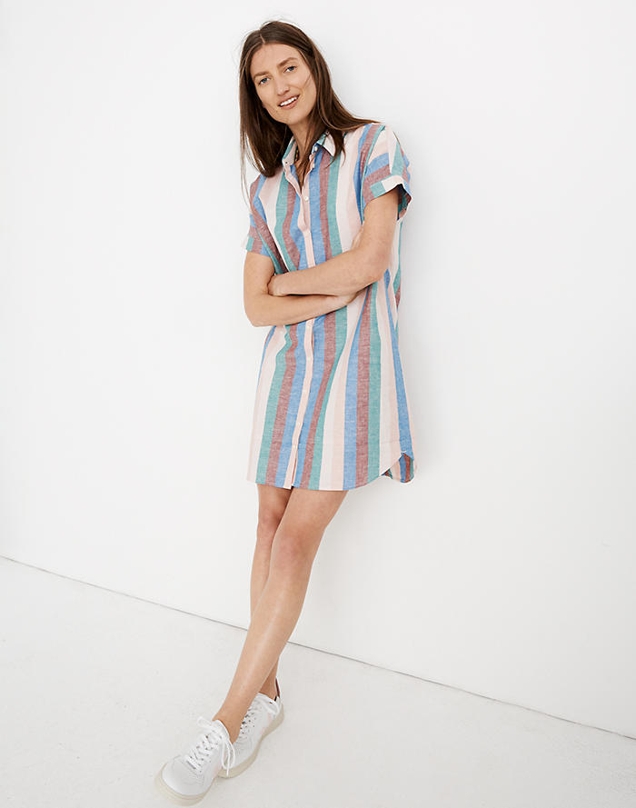 2d93f907ab Central Shirtdress in Flagstaff Stripe