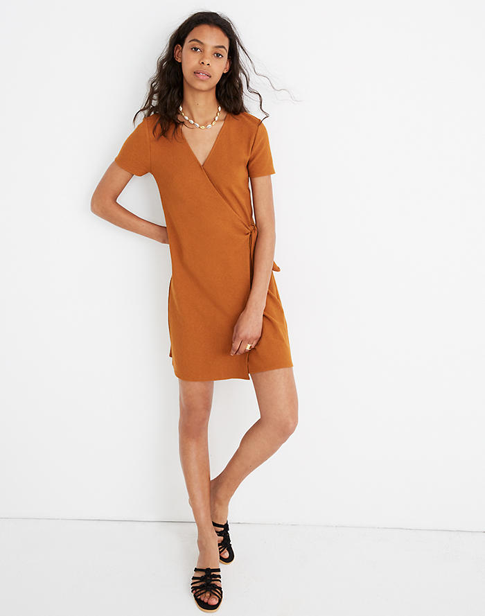 0fa5eb44570887 Texture & Thread Short-Sleeve Side-Tie Dress ...