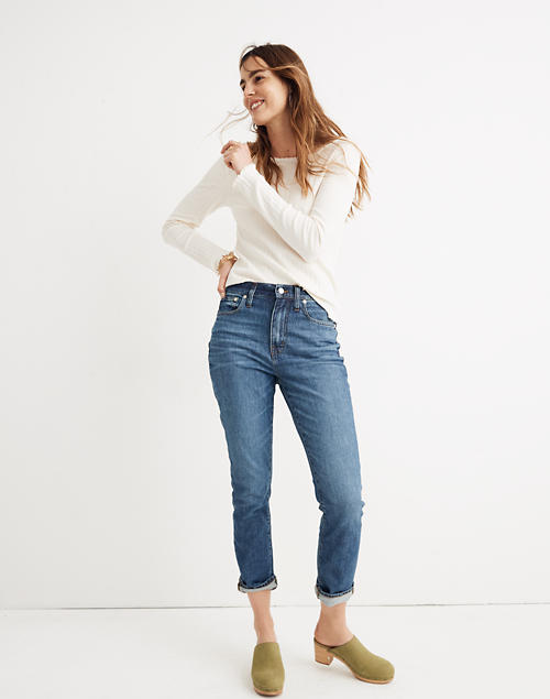 exclusive deals offer wide selection The High-Rise Slim Boyjean in Evangeline Wash