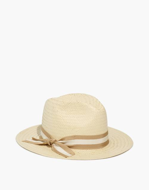 Madewell X Biltmore® Striped Band Panama Hat by Madewell