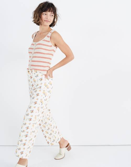 Slim Emmett Wide Leg Crop Pants In Countryside Blooms by Madewell